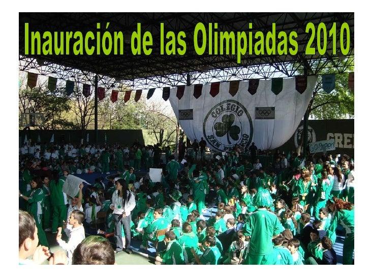Inauración de las Olimpiadas 2010