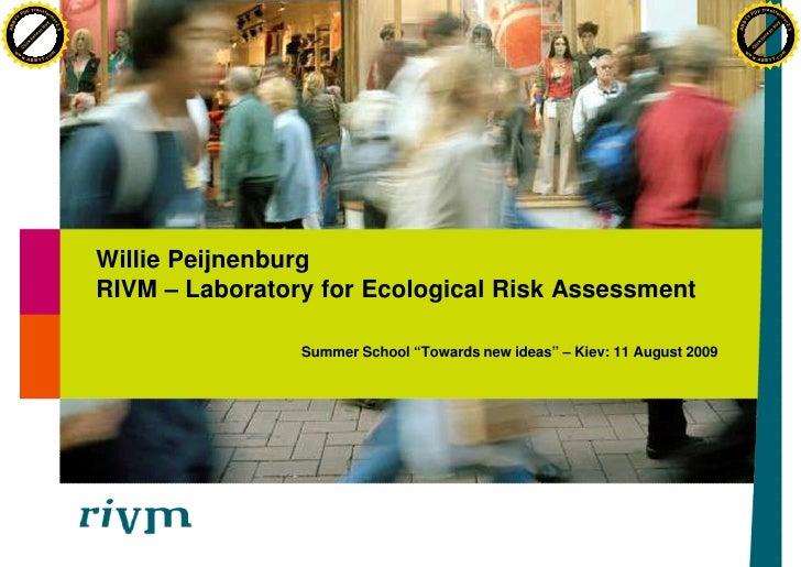 RIVM – Laboratory for Ecological Risk Assessment