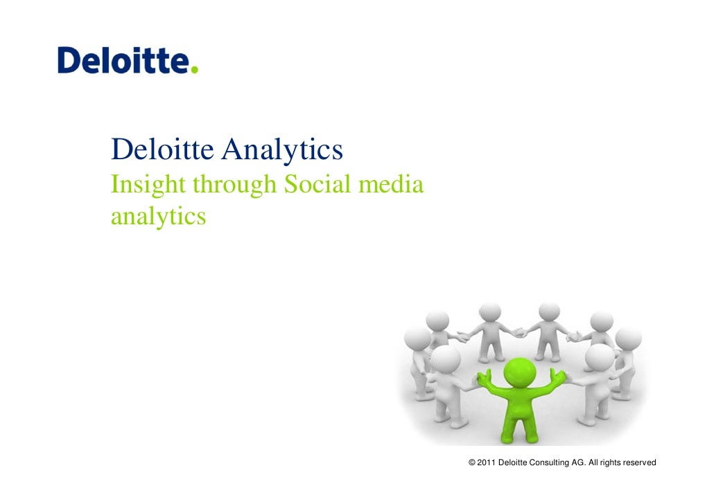 Deloitte AnalyticsInsight through Social mediaanalytics                               © 2011 Deloitte Consulting AG. All r...
