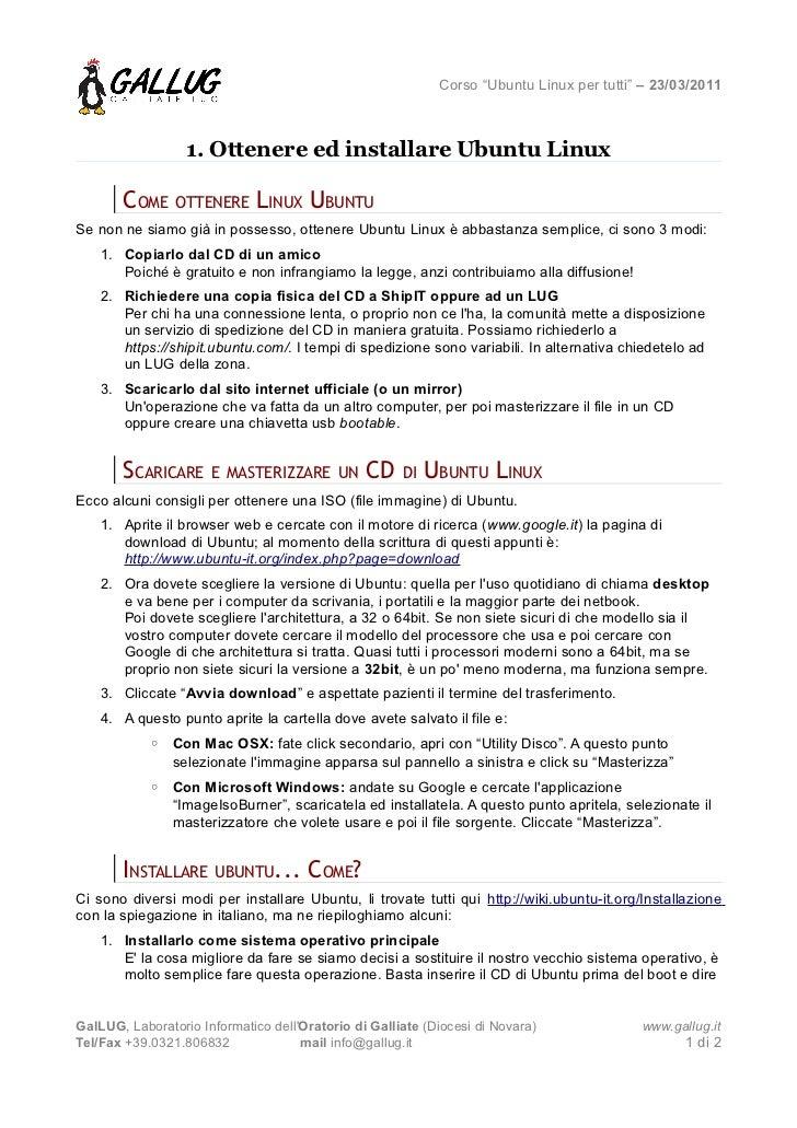 [Ubuntu per tutti] 1, Ottenere ed installare Ubuntu Linux