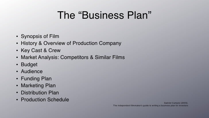 Film production business plan
