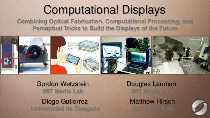 This slide has HeadingDisplays           ComputationalEdit this text to create aa 16:9 media window Combining Optical Fabr...