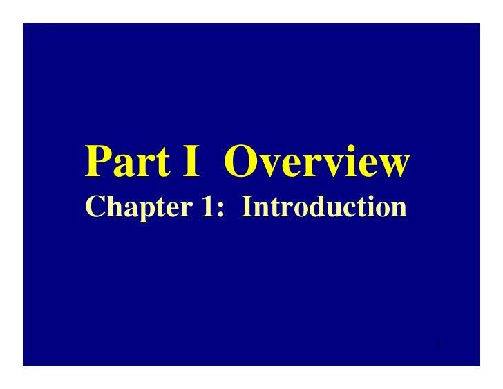 Part I OverviewChapter 1: Introduction                          1