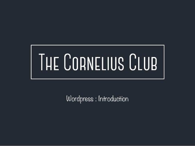 Wordpress : Introduction