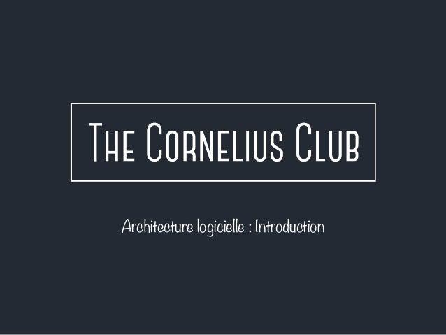 Architecture logicielle : Introduction