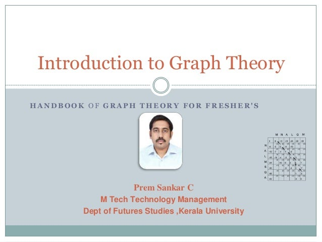 Introduction to Graph Theory HANDBOOK OF GRAPH THEORY FOR FRESHER'S  Prem Sankar C M Tech Technology Management Dept of Fu...