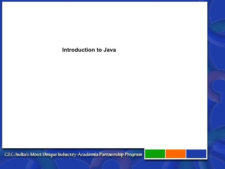 1 Introduction To Java Technology