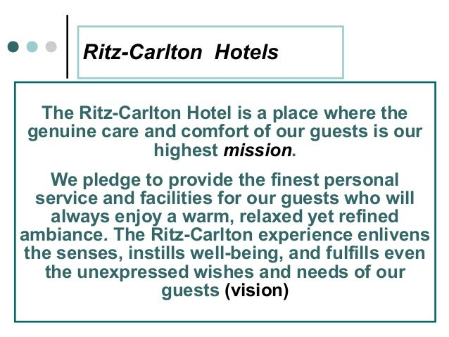 motivational strategies of the ritz carlton The ritz-carlton case study 1 • the ritz-carlton hotel company, llc is the parent company to the luxury hotel chain, the ritz- carlton hotels.