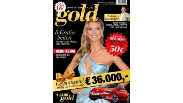 gold im September – DAS STAR-MAGAZIN wird 1 Jahr alt