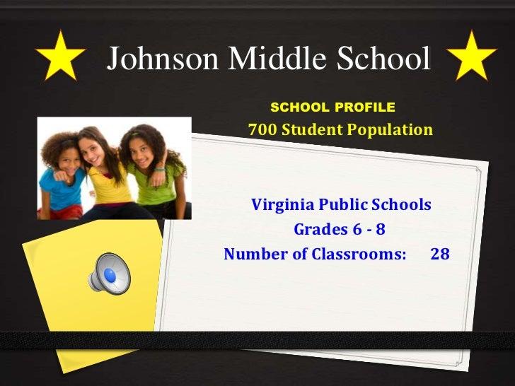 Johnson Middle School<br />           SCHOOL PROFILE<br />  700 Student Population <br />Virginia Public Schools  <br />...