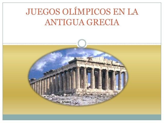 1 juegos olímpicos en la antigua grecia