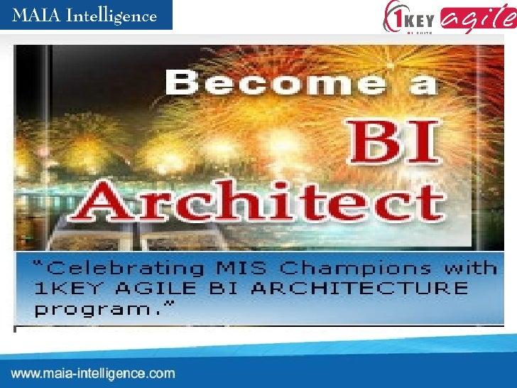 Become BI Architect with 1KEY Agile BI Suite  - Architecture