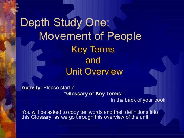 1 key terms and overview to movement of people