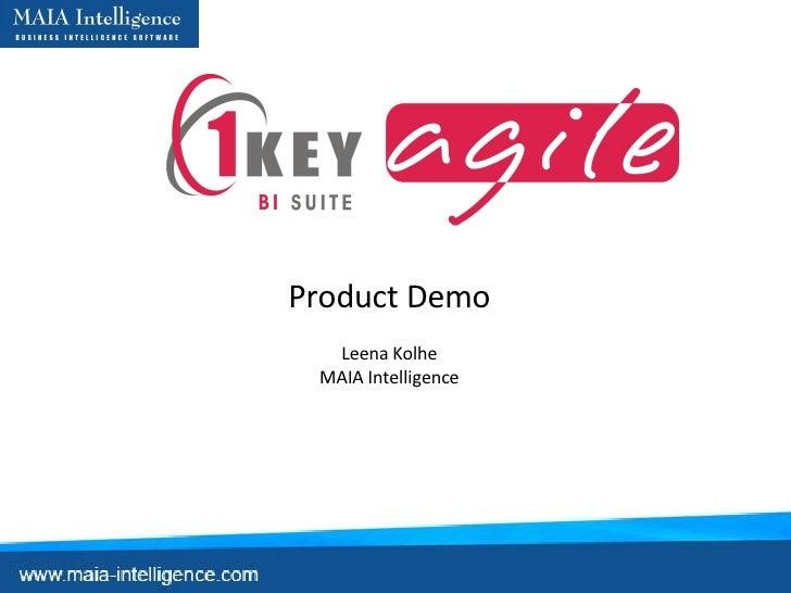 Become BI Architect with 1KEY Agile BI Suite - Web