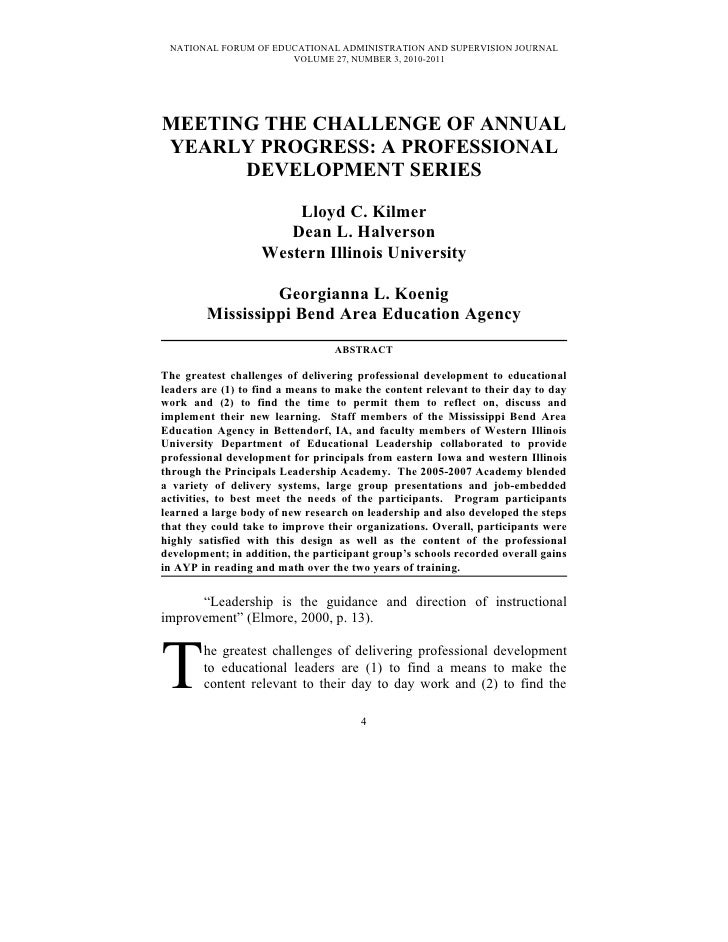 NATIONAL FORUM OF EDUCATIONAL ADMINISTRATION AND SUPERVISION JOURNAL                       VOLUME 27, NUMBER 3, 2010-2011 ...