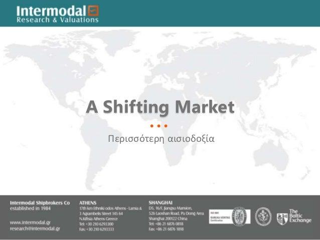 John Cotzias-A Shifting Market