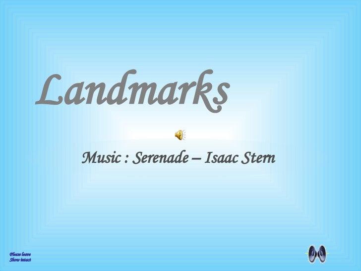 1 Landmarks