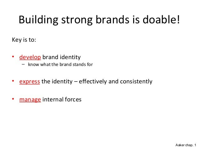 Building Strong Brands Aaker Building Strong Brands is