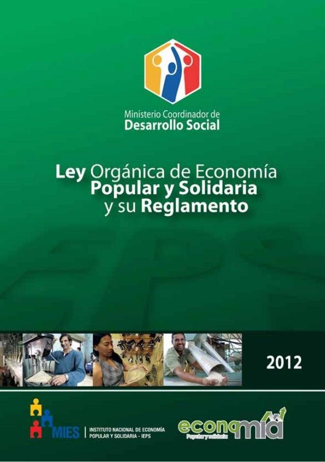 Ley de Economía Popular y Solidaria 1