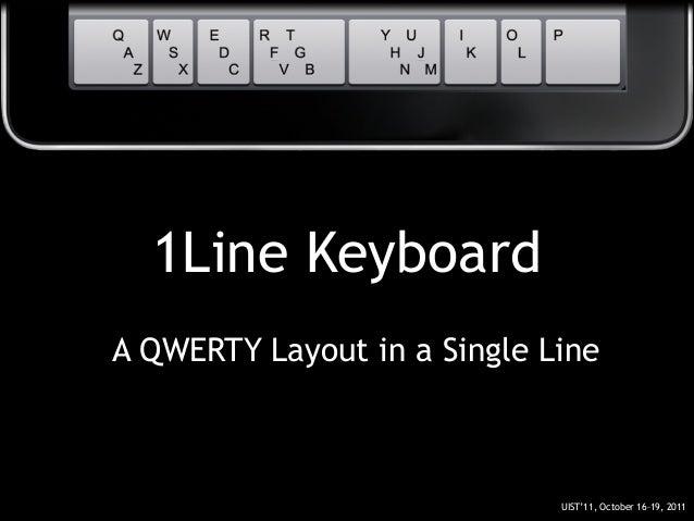 1 line keyboard