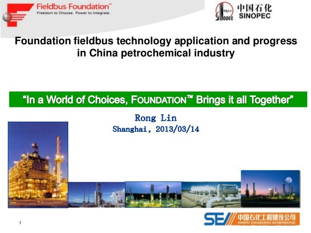 Foundation fieldbus technology application and progress            in China petrochemical industry                        ...