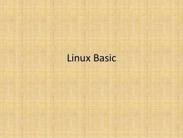 1, linux intro