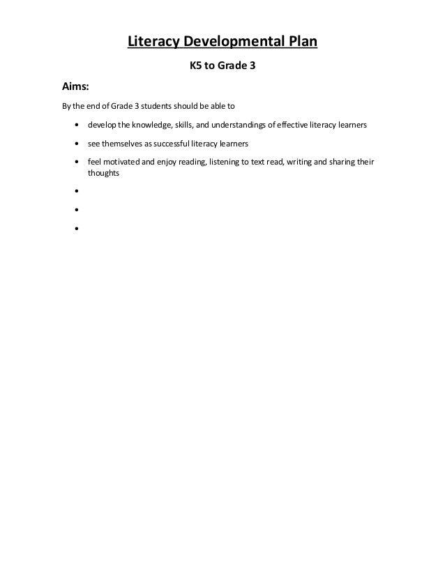 1 literacy developmental plan