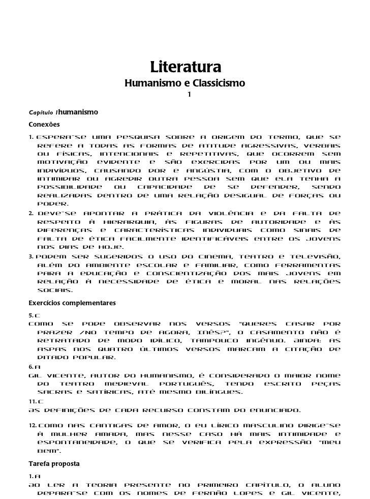 Literatura                            Humanismo e Classicismo                                       1Capítulo 1humanismoCo...