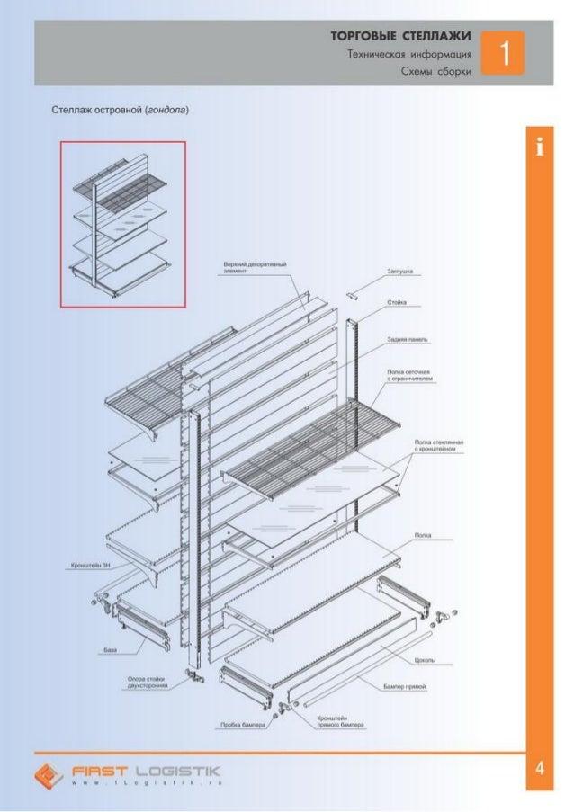 Схемы сборки Стеллаж