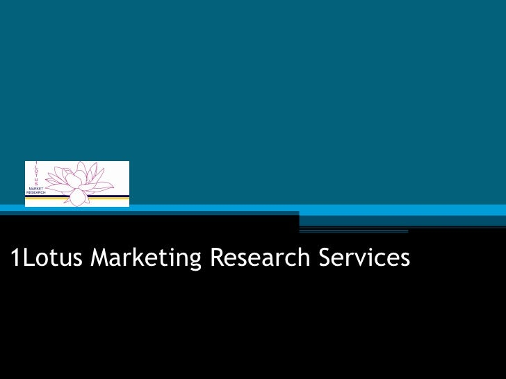 1Lotus Marketing Research Services
