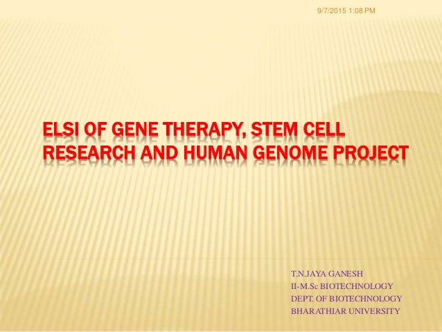 research paper on gene therapy