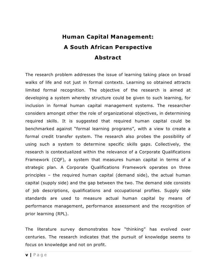 phd thesis on human capital Ii human capital, social capital, employee empowerment , quality of decisions and performance of commercial banks and insurance firms in kenya.