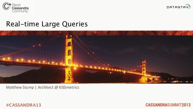 C* Summit 2013: Cassandra on Flash: Performance & Efficiency Lessons Learned by Matt Stump