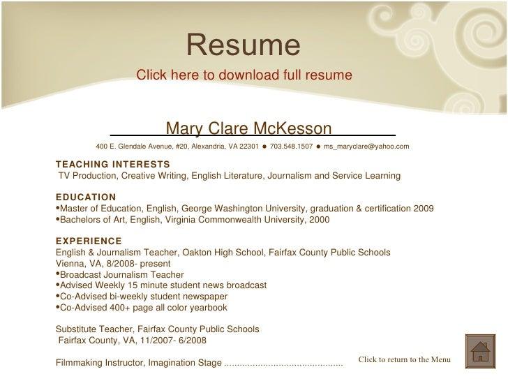 fast help creative writing resume