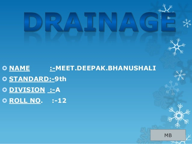 Drainage class 9 for House drainage system ppt