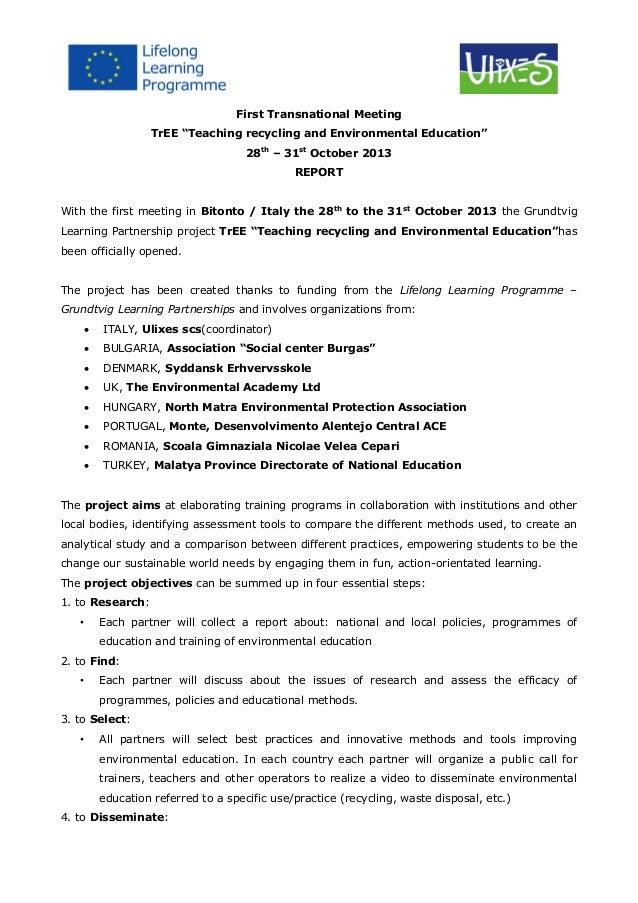 1 meeting   ita -report(1)