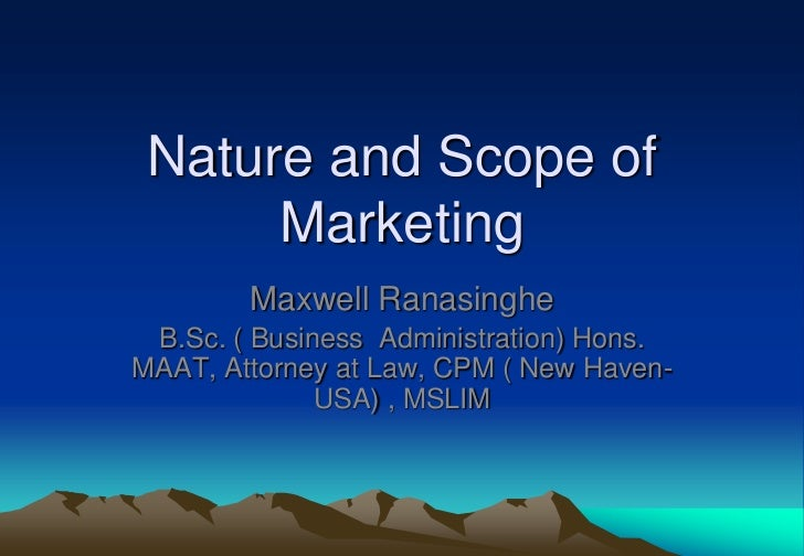 nature and scope of marketing research Nature is a leading research and analytics agency in melbourne we create clarity for our clients so they can embark on business decisions with confidence.
