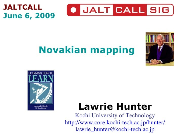 Novakian mapping Lawrie Hunter Kochi University of Technology http://www.core.kochi-tech.ac.jp/hunter/ [email_address] JAL...