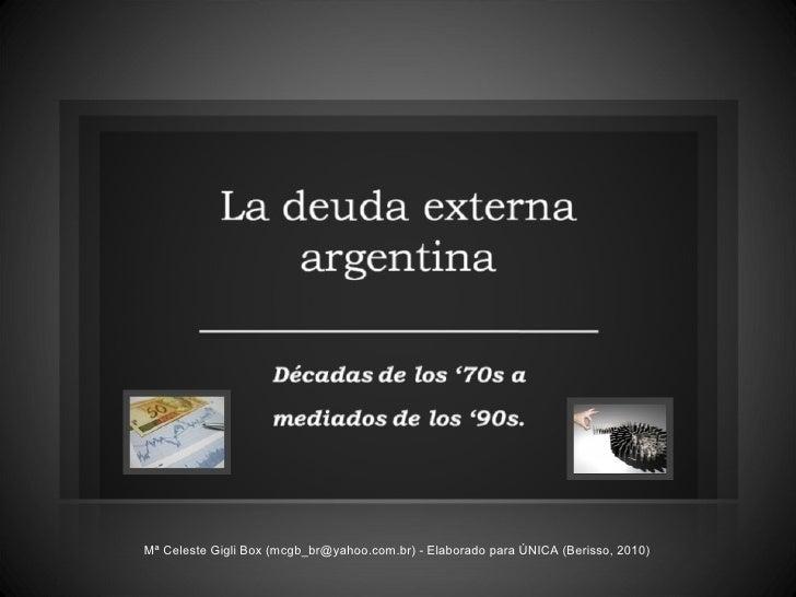 Deuda Externa Argentina + Economía Decada de los '80s