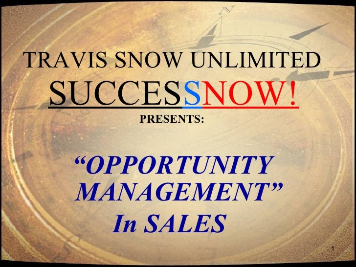 1. Opportunity Management For Dealership Sales Pp