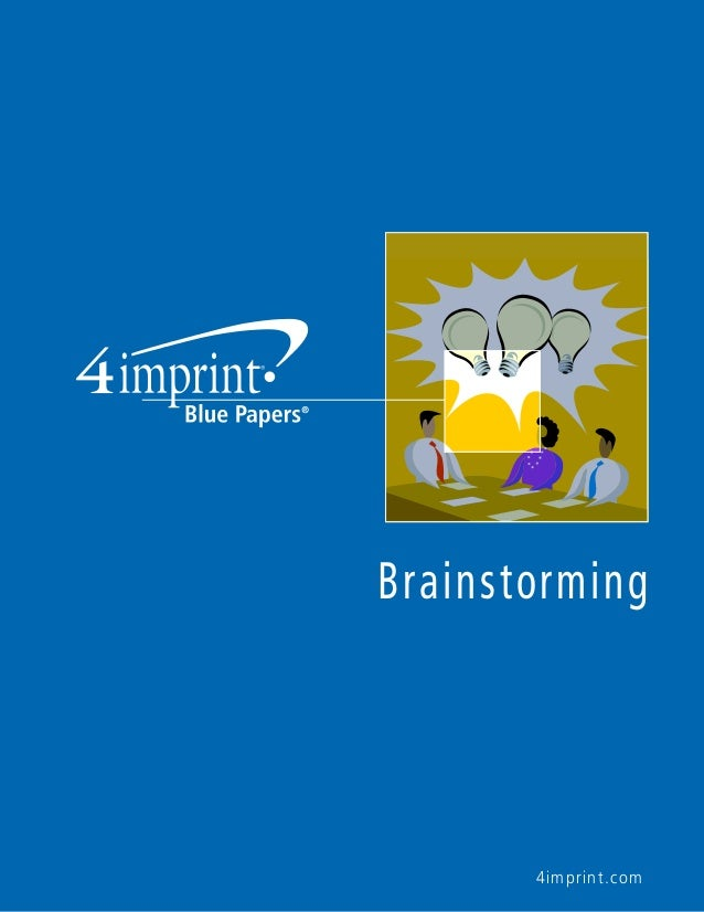 4imprint® Releases Newest Blue Paper and Podcast: Give Brainstorming a Makeover