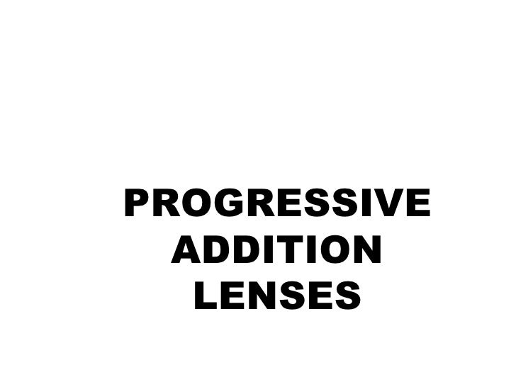 Progressive Spectacle Lens Fitting