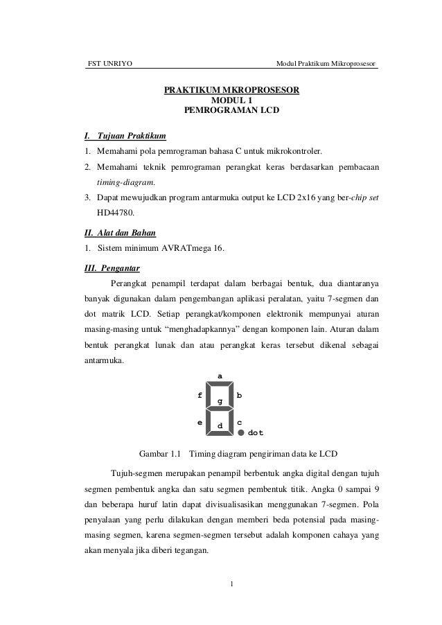 FST UNRIYO                                            Modul Praktikum Mikroprosesor                     PRAKTIKUM MKROPROS...