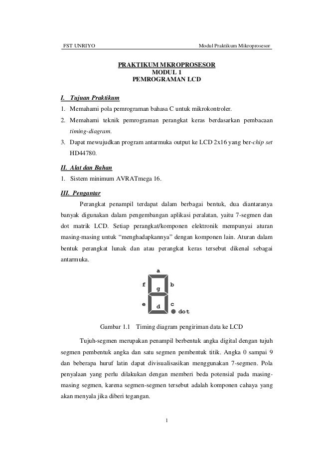 (1) pemrograman lcd