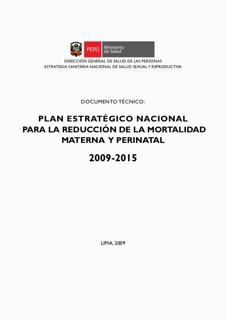 de Salud             DIRECCIÓN GENERAL DE SALUD DE LAS PERSONAS    ESTRATEGIA SANITARIA NACIONAL DE SALUD SEXUAL Y REPRODU...