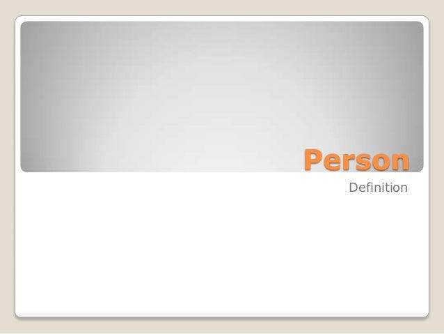 Person Definition