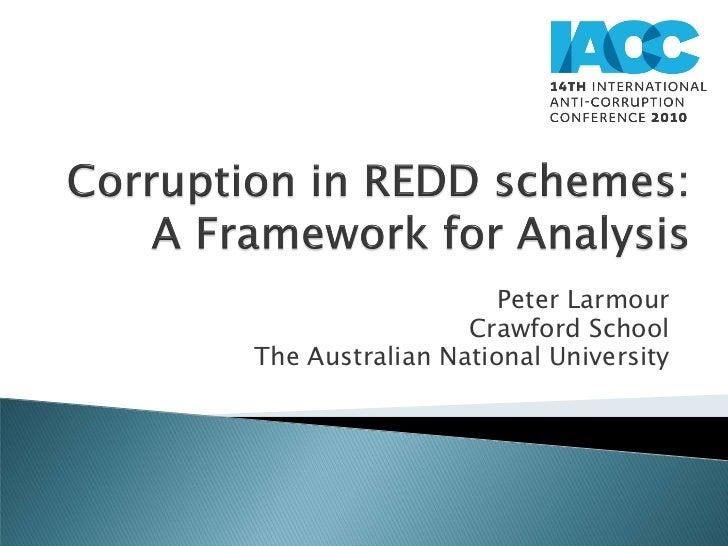 Corruption in REDD schemes