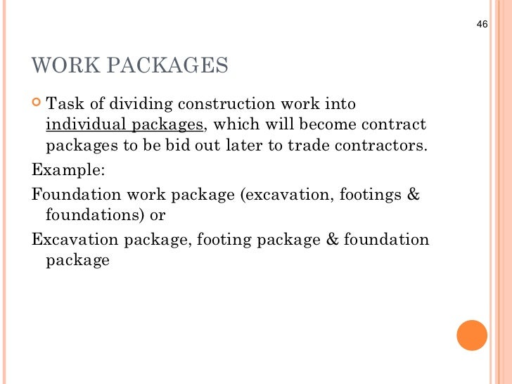 Work Plan Examples Example:foundation Work