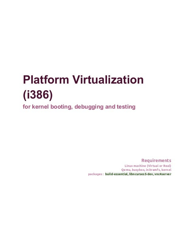 Development platform virtualization using qemu