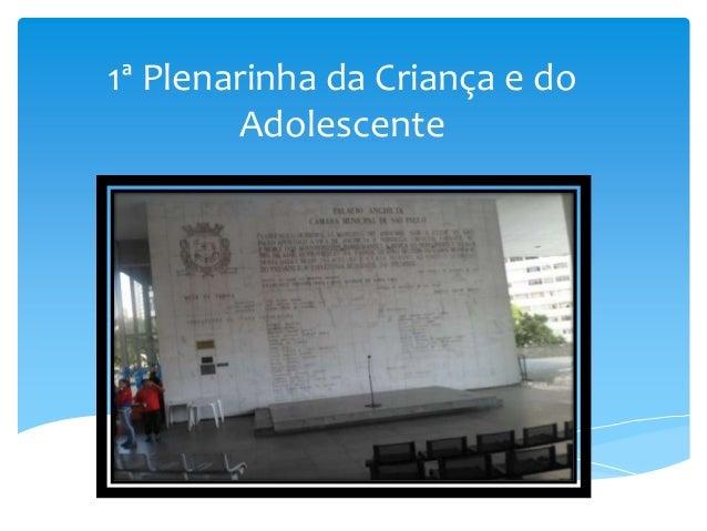 1ª Plenarinha da Criança e do Adolescente